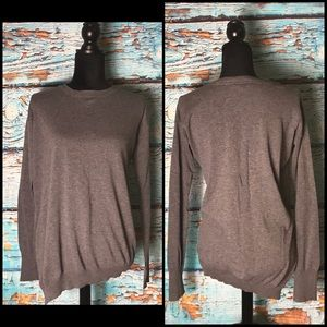 BCBG Maxazria Grey Long Sleeve Top